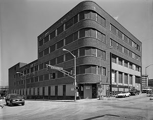 The Atlanta Journal-Constitution - Atlanta Constitution Building, in abandoned state (1995, Historic American Buildings Survey image.)
