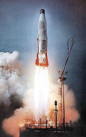 Medium-lift launch vehicle - Launch of an Atlas B intercontinental ballistic missile