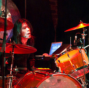Avant-garde metal - Atsuo of Boris, performing live in Vancouver, British Columbia, Canada in 2011