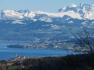 Au Peninsula - Au Peninsula as seen from Felsenegg