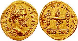 Legio VIII Augusta - Aureus struck in 193 by Septimius Severus to celebrate VIII Augusta, one of the legions supporting his fight for purple.