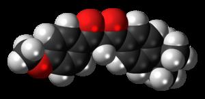 Avobenzone - Image: Avobenzone 3D spacefill