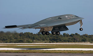 B-2 Spirit 88-0329 taking off from Andersen AFB Guam