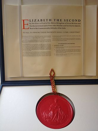 BBC Charter - The current BBC Royal Charter, held at the BBC Written Archives Centre