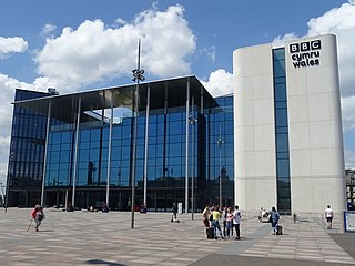 BBC Cymru Wales New Broadcasting House Television studio and office in Central Square, Cardiff