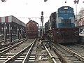 BE-BSB Express headed by LKO WDM3D ^11154 Cheetah and LKO WDM3A ^16371Ron the open line - Flickr - Dr. Santulan Mahanta.jpg