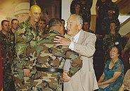 BG Albert Bryant Jr greeted by Montfort Point Marine and Congressional Gold Medal Recipient BG Albert Bryant Sr