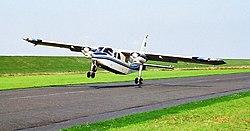 BN-2 Islander Crosswind landing F369-10A-V.jpg