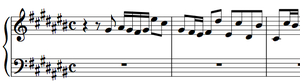 Prelude and Fugue in C-sharp major, BWV 848 - Image: Bach Fugue BWV 848 Subject