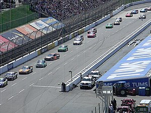 Martinsville Speedway - The track's back stretch in 2011