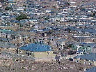 Badhan, Sanaag - view of East-side of the town, مشهد من الجانب الشرقي من المدينة