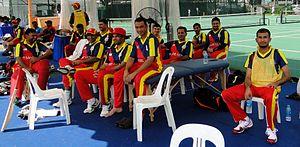 Bahrain national cricket team - Bahrain cricket team in June 2014