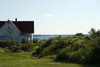 Bakers Island - The Boston skyline as seen from the island.