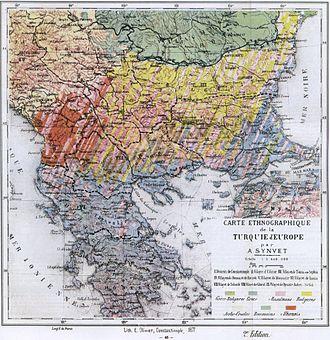 Kosovo Vilayet - Image: Balkans ethnic (1877)