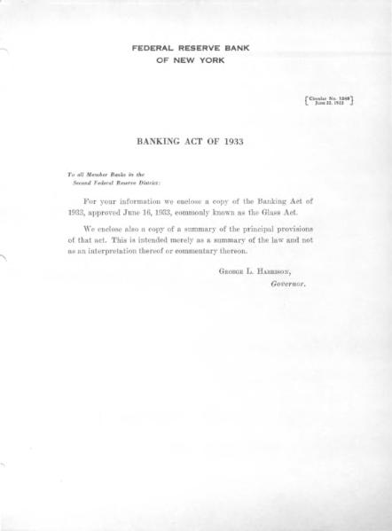 File:Banking Act of 1933 (Federal Reserve Circular 1248).djvu
