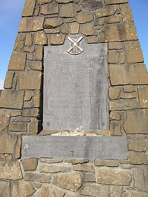 Wars of Scottish Independence - Bannockburn Monument plaque