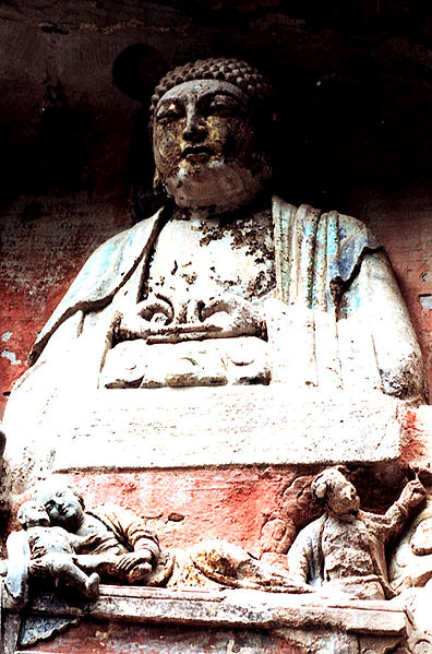 File:Bao Ding Mountain grotto Buddha.JPG