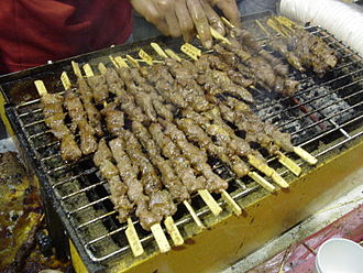 Chuan (food) - Image: Barbecued lamb sticks