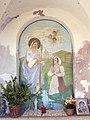 Barco, capitello della Madonna di Piné - Affresco apparizione.jpg