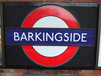 Barkingside station roundel.JPG