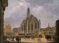 Bartholomeus van Bassen, De Nieuwe Kerk aan het Spui gezien vanuit het oosten.jpg