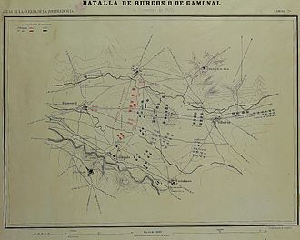 Battle of Burgos - Battle of Burgos or Gamonal (National Library of Spain)
