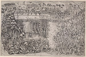 French illustration of the Battle of Fornovo around 1500