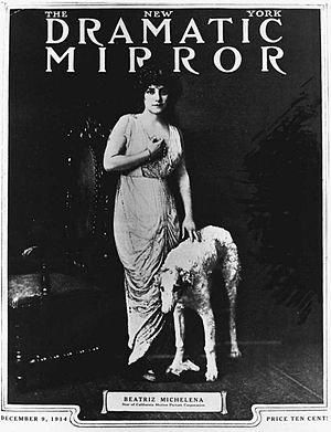 Beatriz Michelena - Beatriz Michelena in 1914, on the cover of The New York Dramatic Mirror