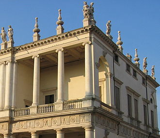 Palazzo Chiericati - Image: Beelden daklijst palazzo Chiercati