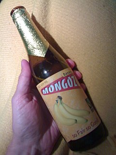 Banana beer alcoholic beverage made from fermentation of mashed bananas