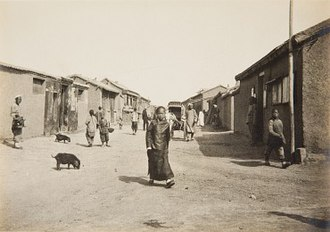 Concessions in Tianjin - Belgian concession main street, 1907