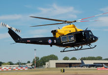 A Bell Griffin HT1 of the Defence Helicopter Flying School, now replaced by Jupiter HT1.
