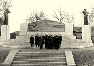 Walter Seymour Allward - Dedication of the memorial, including Alexander Graham Bell, members of his family plus committee members