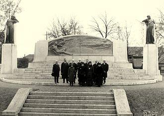 Walter Seymour Allward - Dedication of the memorial, including Alexander Graham Bell, members of his family plus committee members