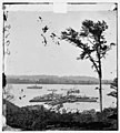 Belle Plain Landing, Virginia. View of camp and transports. (Lower landing). (Photo taken near Bull Bluff?) LOC cwpb.01789.jpg