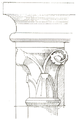 Belmont Abbey Bell Tower Capital 2 Camille Enlart 1921.png