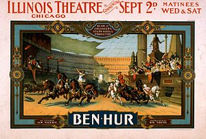 A. L. Erlanger - 1901 poster for the representation of Ben Hur at the Illinois Theater of Chicago.