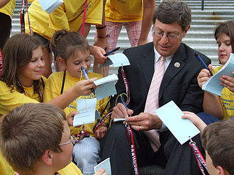 Ben Chandler - Congressman Chandler signs autographs for students visiting from Perryville, Kentucky.