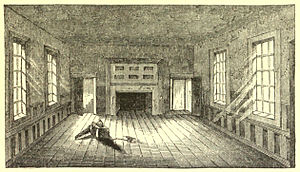 Raleigh Tavern - Engraving of the Apollo Room as it appeared in the 1850s during the visit by Benson Lossing