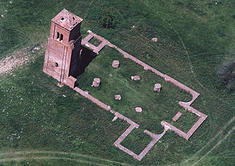 Berettyóújfalu - Aerial view of ruins in the town