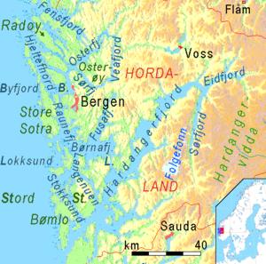 Hardangerfjord - Image: Bergen Hardangerfjord