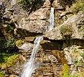 Bergtocht van Peio Paese naar Lago Covel (1,845 m) in het Nationaal park Stelvio (Italië). Waterval boven Lago Covel.jpg