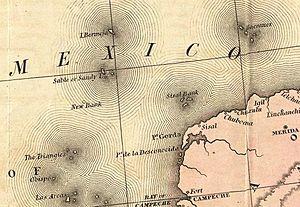 "Bermeja - An 1846 map showing ""I. Bermeja""."