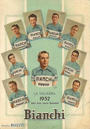 Bianchi (cycling team) - The Bianchi team of 1952