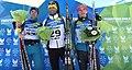 Biathlon Men's 10 km Sprint Final - Winter Universiade Trentino 2013 - 1-Milanko Petrovic, 2-Vitaliy Kilchytskyy, 3-Dmytro Pidruchnyi.jpg
