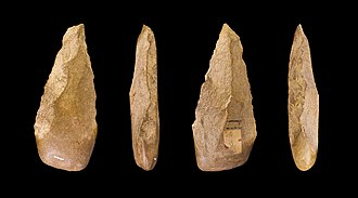 Lower Paleolithic - Four views of an Acheulean handaxe