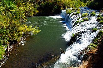 Butte Falls, Oregon - Big Butte Creek Falls, the city's namesake, located on the South Fork of Big Butte Creek