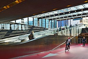 Bike entrance Rotterdam Central Station