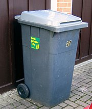 A wheelie bin in Berkshire, England