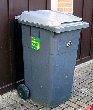 Environmental Protection Act 1990 - A typical wheelie bin household waste receptacle